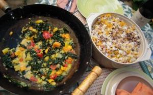 Caribbean-ish meal