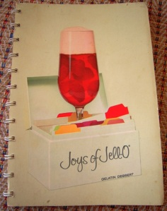 My grandma's trusty Joys of Jell-O cookbook, circa 1960s