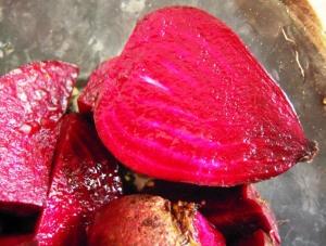 Raw purple beets