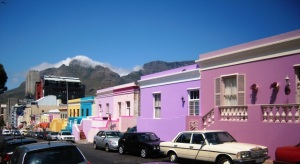 Table Mountain and the Bo Kaap area of Cape Town