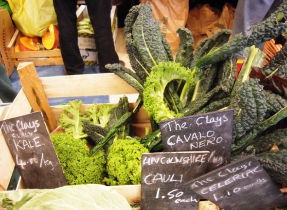 Kale for sale at East Oxford Farmers Market