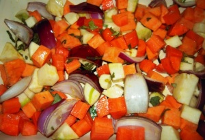 Veg ready to roast